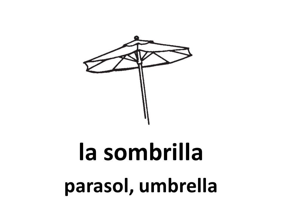 la sombrilla parasol, umbrella