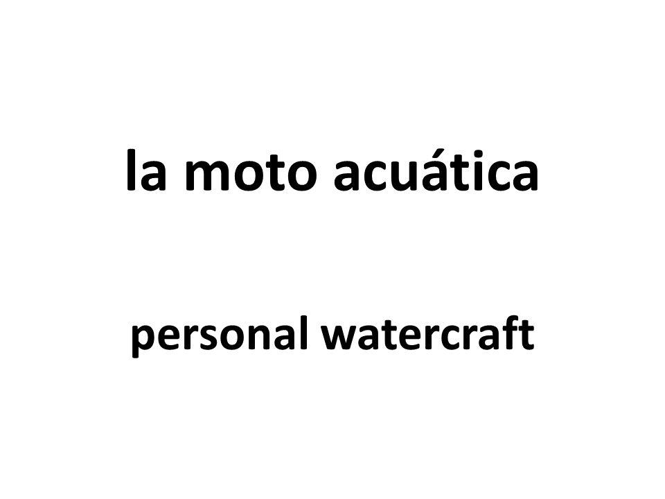 la moto acuática personal watercraft