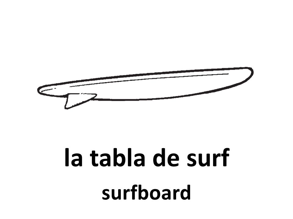 la tabla de surf surfboard