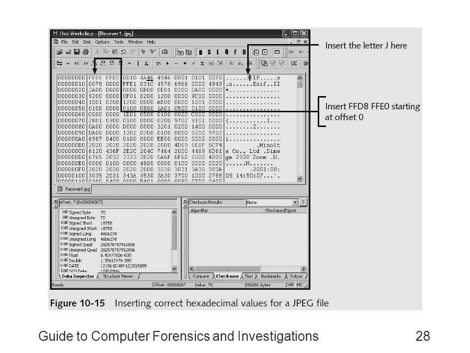 Guide to Computer Forensics and Investigations28