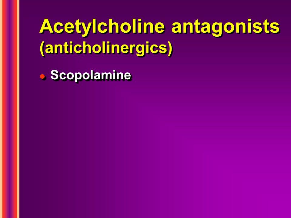 Acetylcholine antagonists (anticholinergics) l Scopolamine
