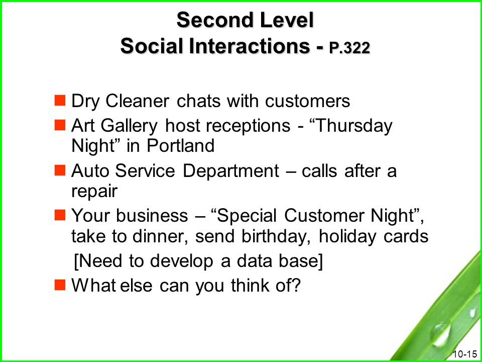 """10-15 Second Level Social Interactions - P.322 Dry Cleaner chats with customers Art Gallery host receptions - """"Thursday Night"""" in Portland Auto Servic"""