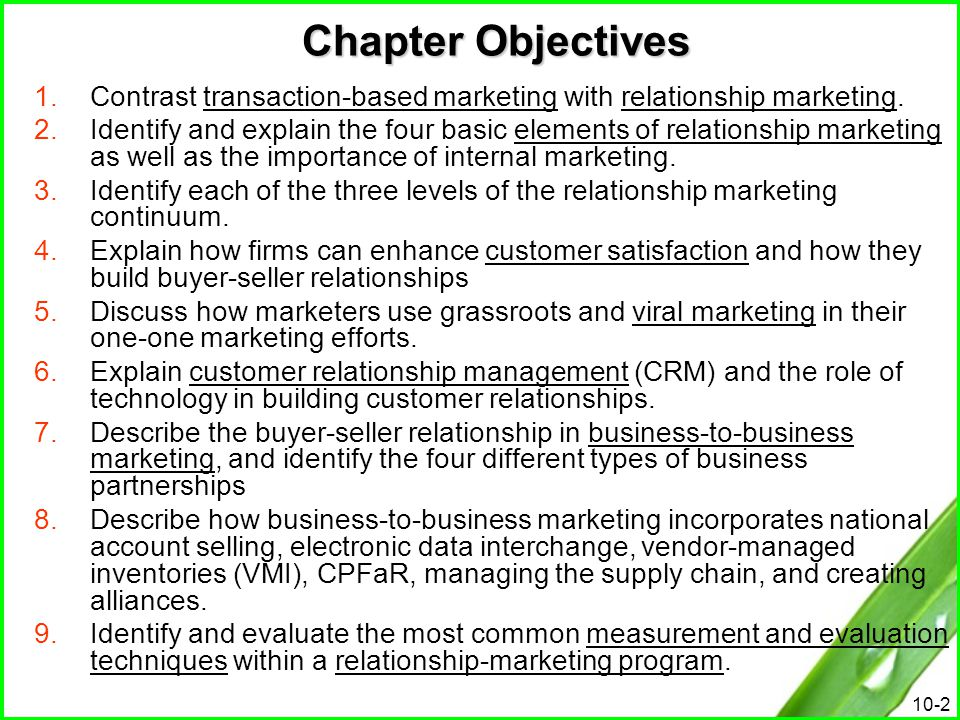 10-13 The First Level of Relationship Marketing