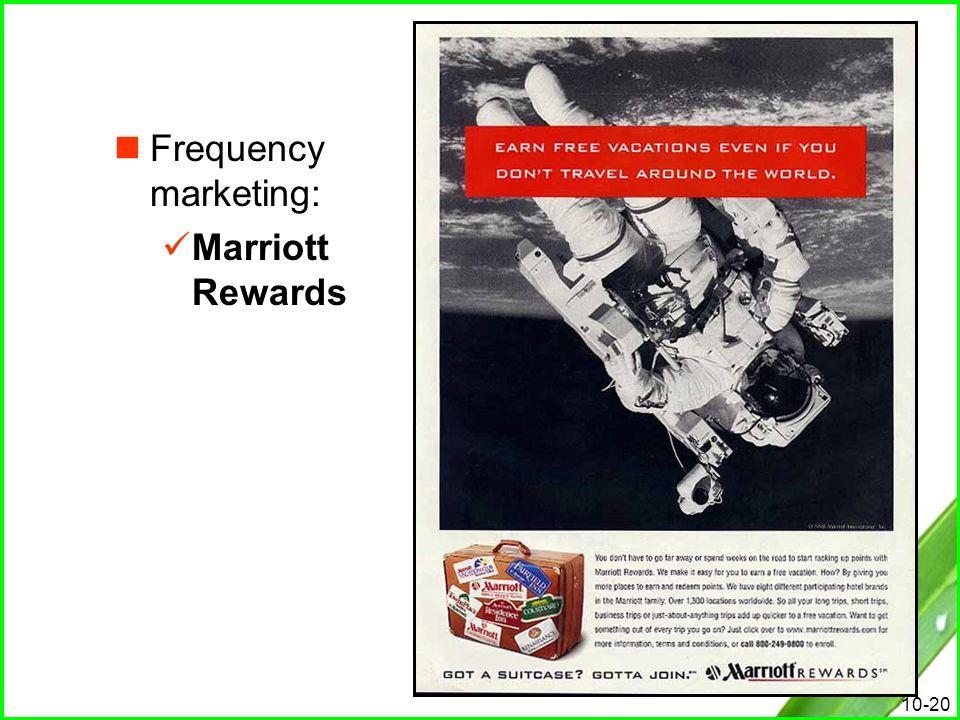 10-20 Frequency marketing: Marriott Rewards