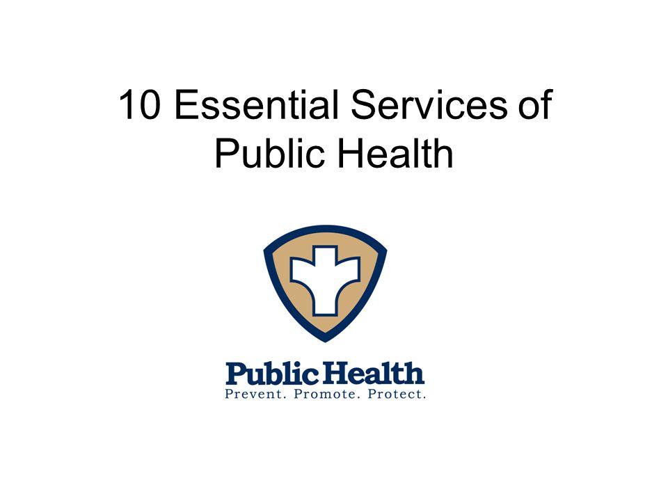10 Essential Services of Public Health
