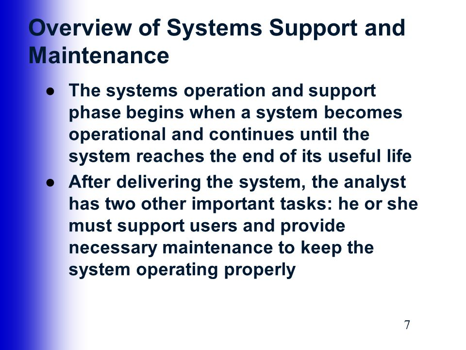 18 Maintenance Activities ●Preventative Maintenance –Reverse engineering includes changes to an operational system that reduce the possibility of future problems –Preventive maintenance requires analysis of areas where trouble is likely to occur –Competes for IT resources along with other projects, and sometimes does not receive the high priority that it deserves