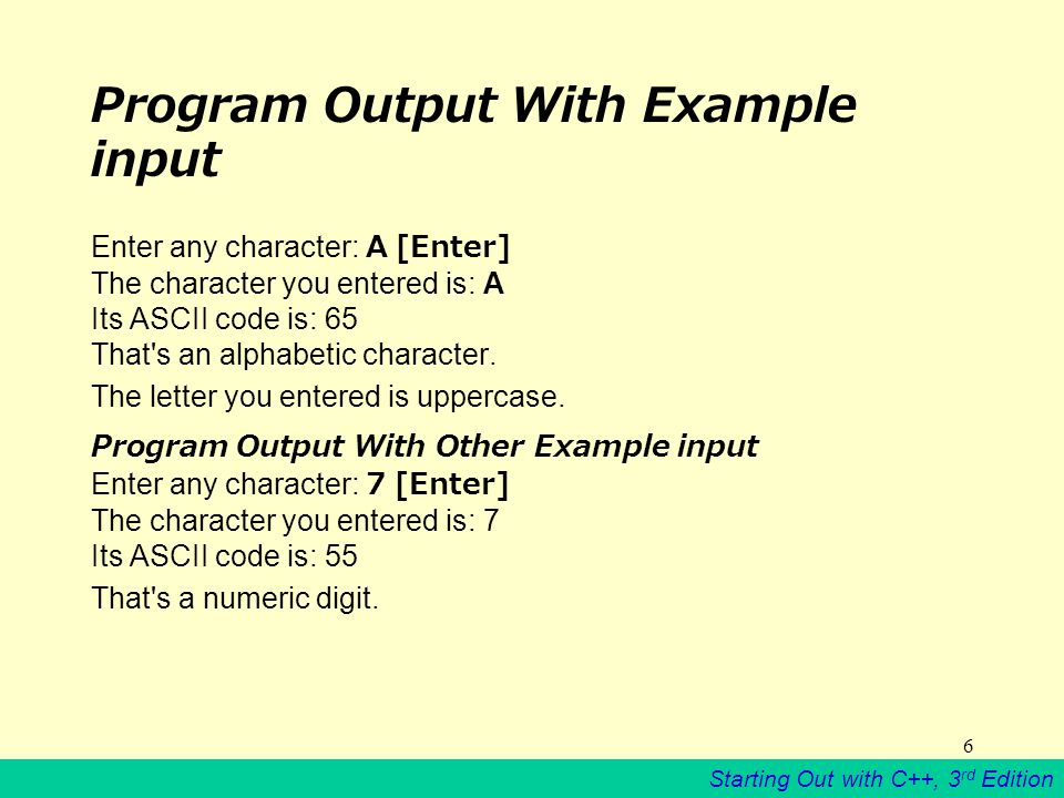 Starting Out with C++, 3 rd Edition 47 A note about the iostream header file The preceding program uses the iostream header, not iostream.h.