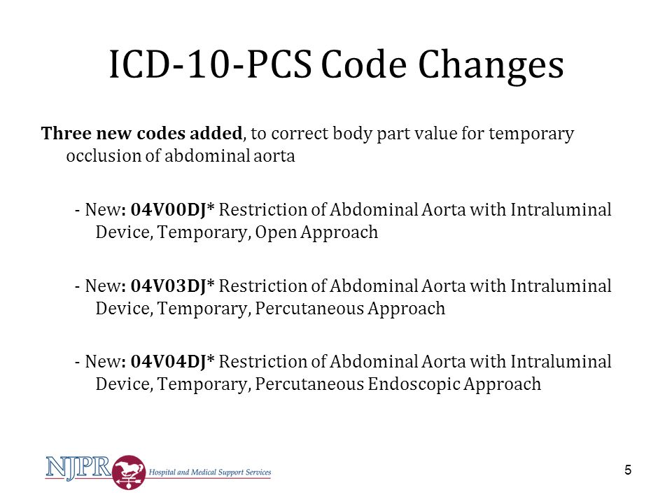 ICD-10-PCS Code Changes *Appendix G – Character meanings for the Heart and Great Vessels Root Operation V - Restriction Qualifier - character 7 J - temporary 6