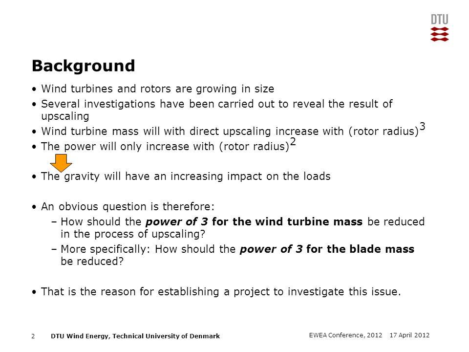 DTU Wind Energy, Technical University of Denmark Add Presentation Title in Footer via Insert ; Header & Footer The LR10-MW turbine: Loads HAWC2 13 17 April 2012EWEA Conference, 2012