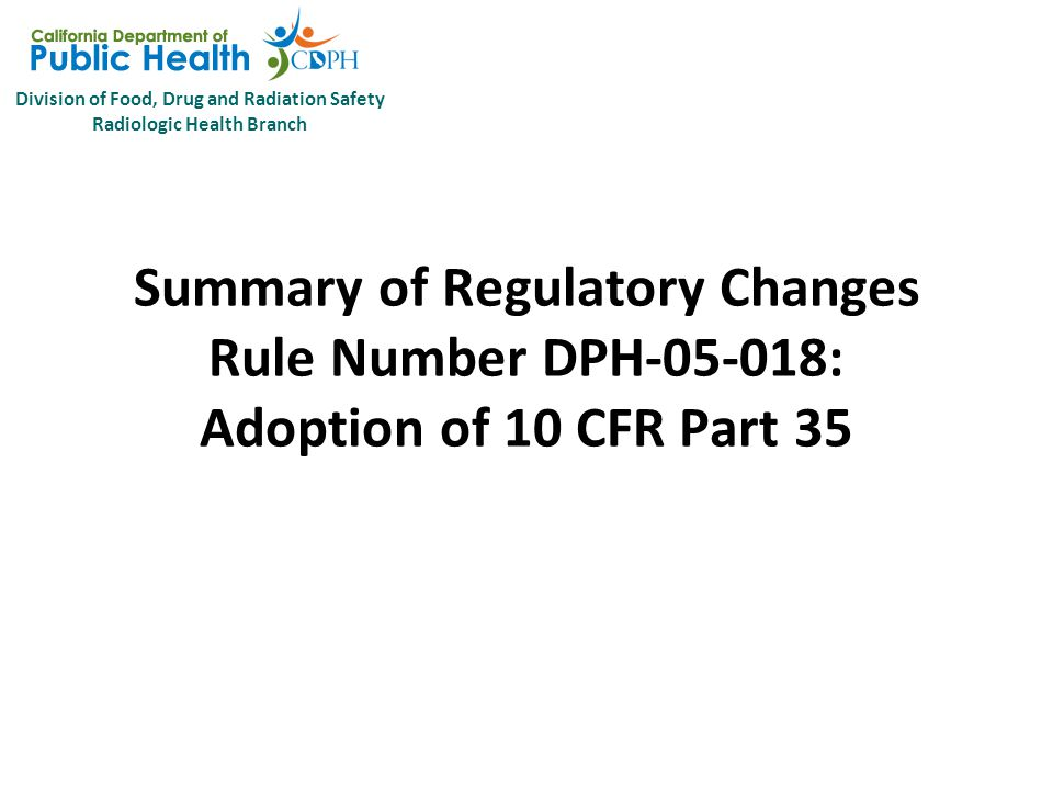 Division of Food, Drug and Radiation Safety Radiologic Health Branch Package DPH-05-018 10 CFR 35 Subpart M – Reports  35.3045 Report and notification of a medical event.