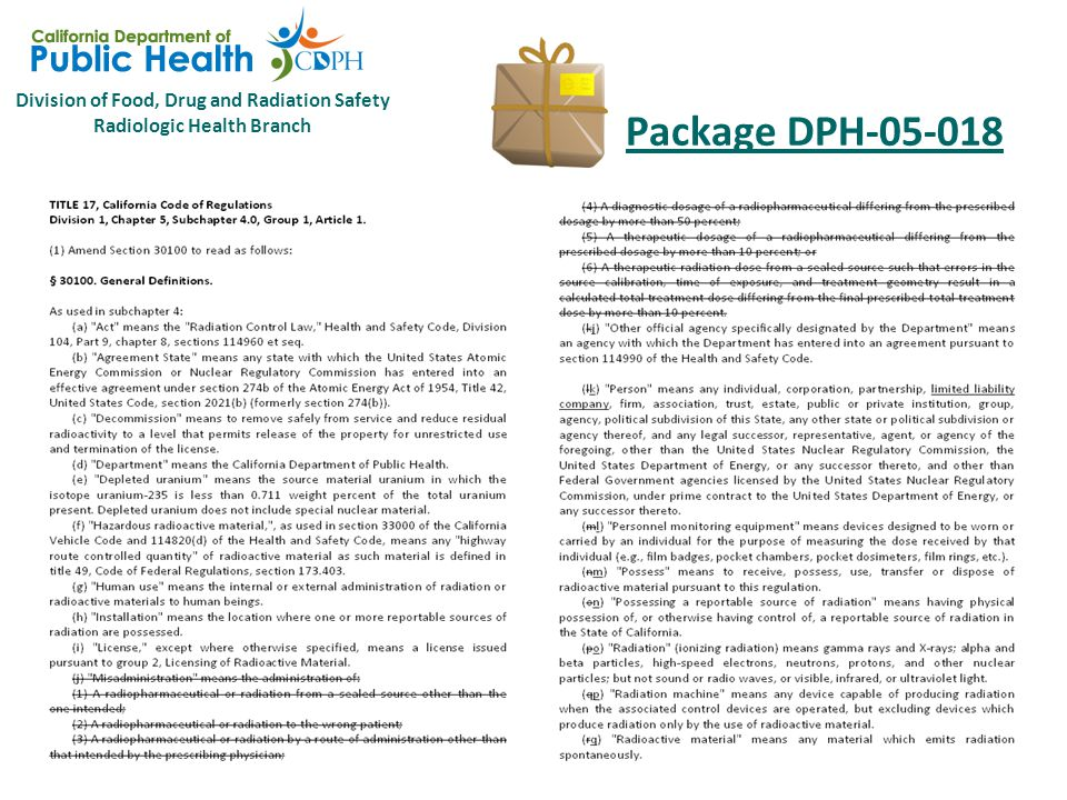 Division of Food, Drug and Radiation Safety Radiologic Health Branch Package DPH-05-018 10 CFR 35 Subpart L – Records  35.2024 Records of authority and responsibilities for radiation protection programs.