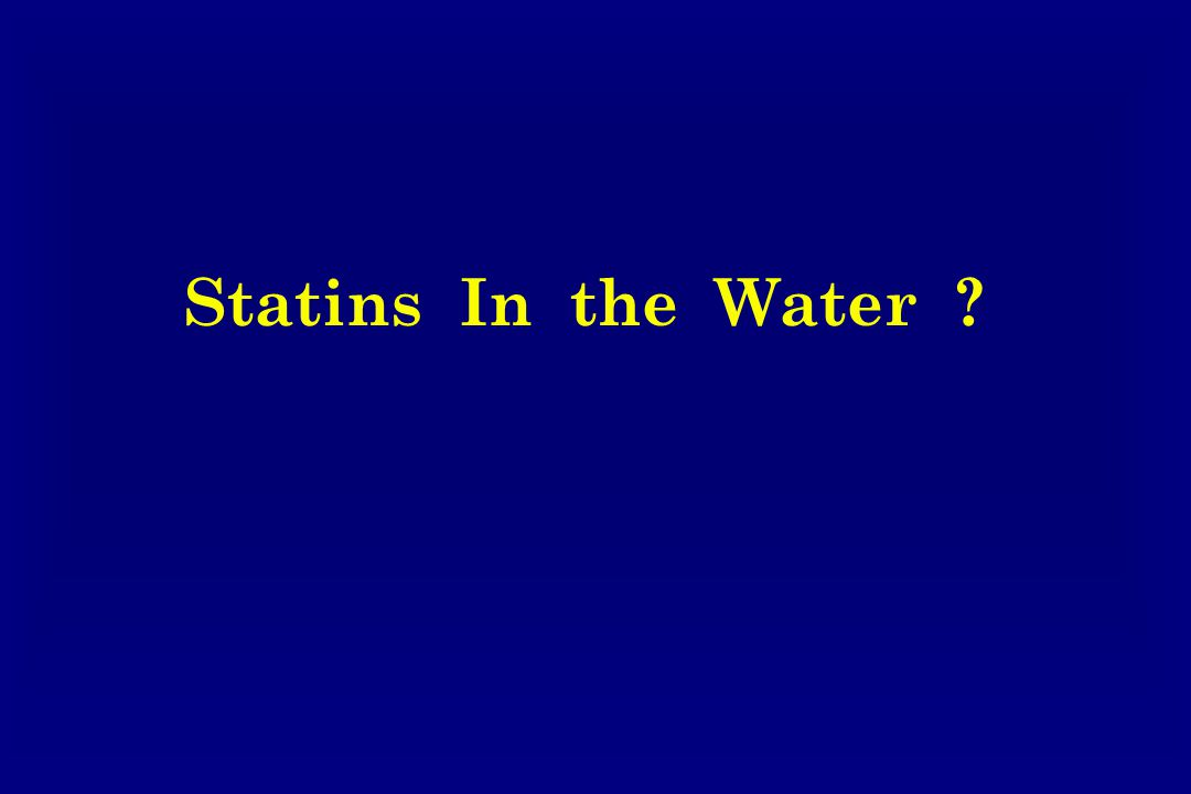 Statins In the Water