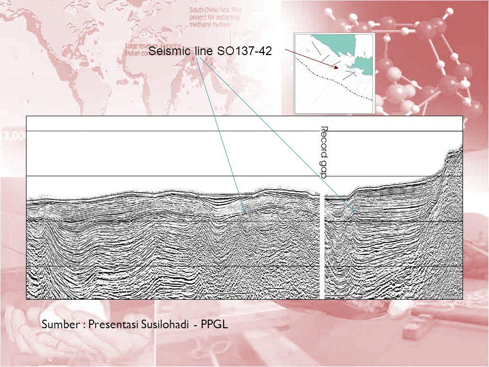 Seismic line SO137-42 Sumber : Presentasi Susilohadi - PPGL