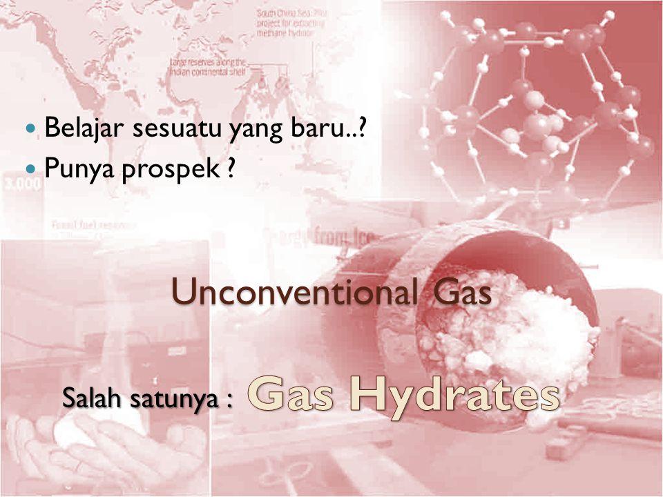 Unconventional Gas Belajar sesuatu yang baru..? Punya prospek ? Salah satunya :