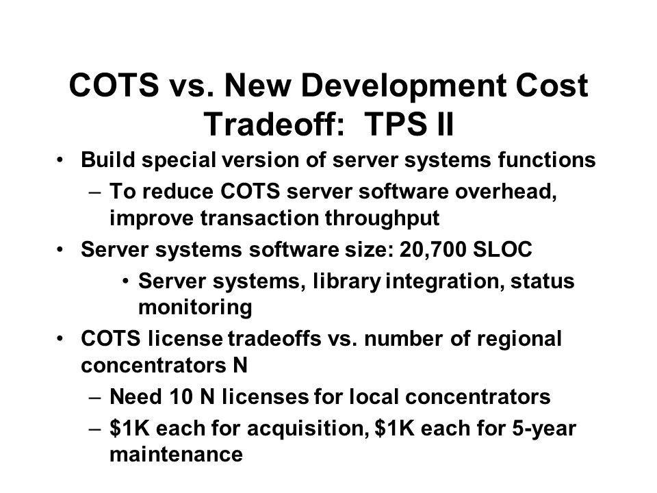 COTS vs.