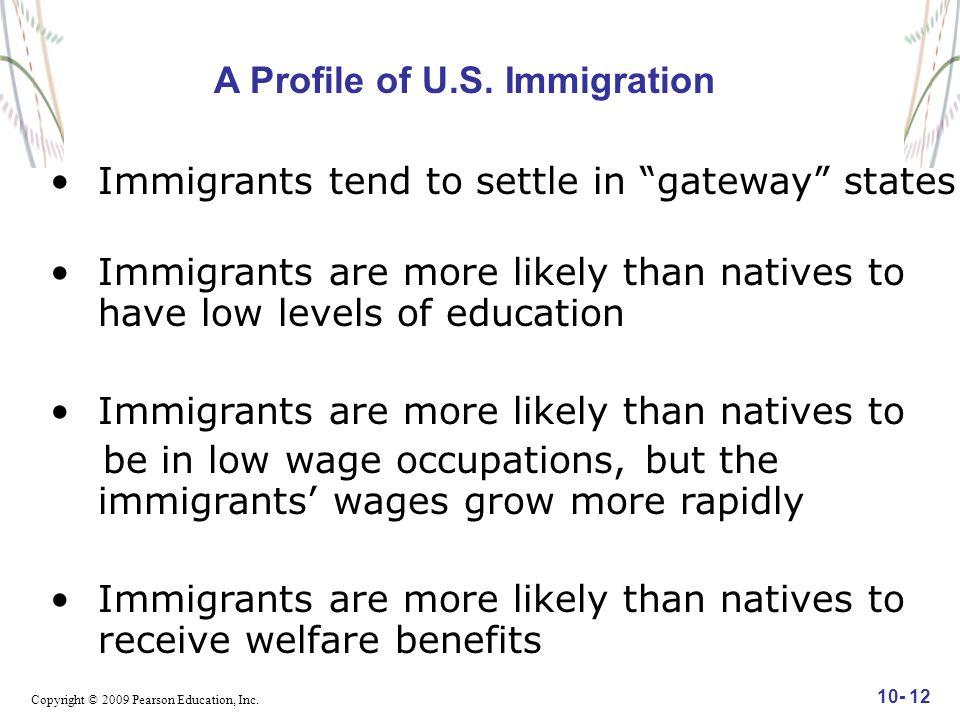 Copyright © 2009 Pearson Education, Inc. 10- 12 A Profile of U.S.