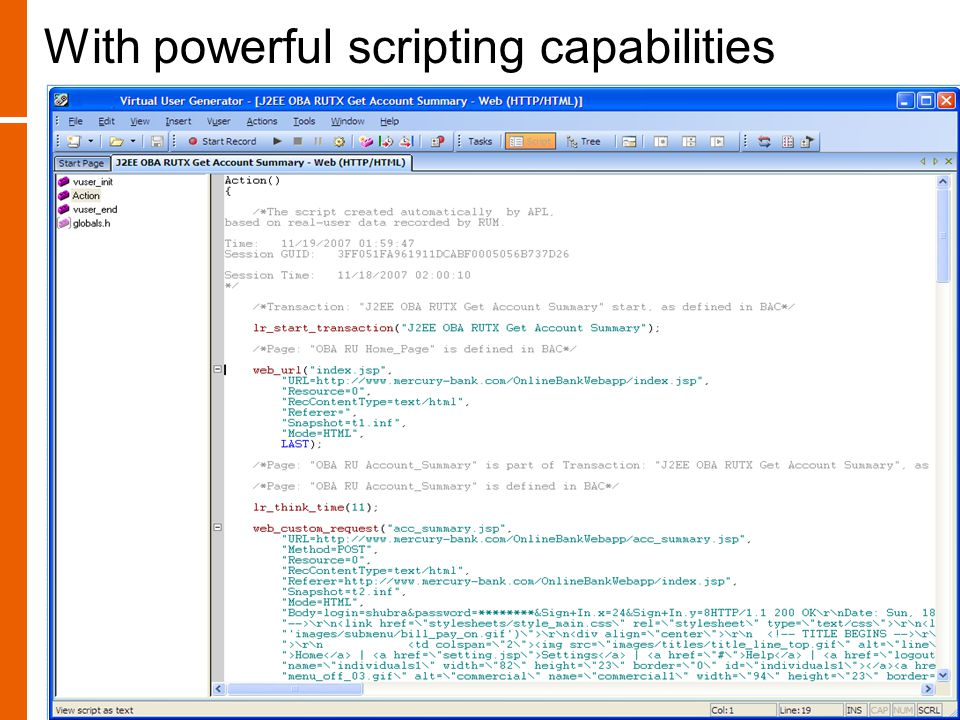 With powerful scripting capabilities