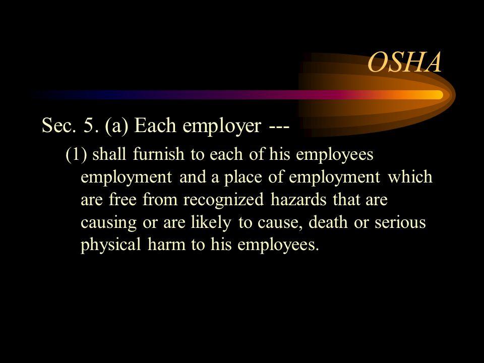 OSHA Sec. 5.
