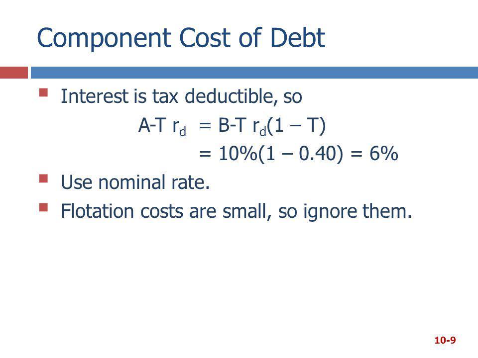 r d = 10% and RP = 4. This RP is not the same as the CAPM RP M.