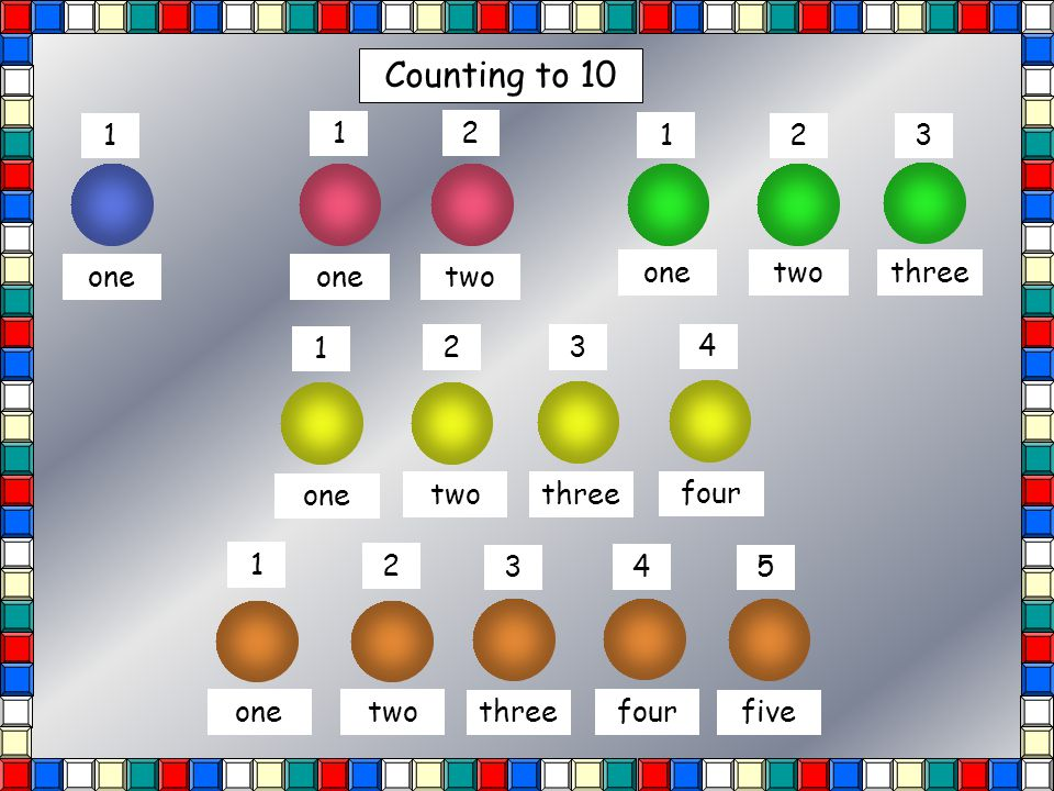 Counting to 10 10 9 8 7 6 5 4 3 2 1 How many cubes?