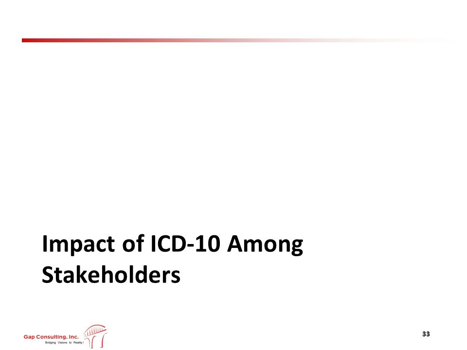 Impact of ICD-10 Among Stakeholders 33