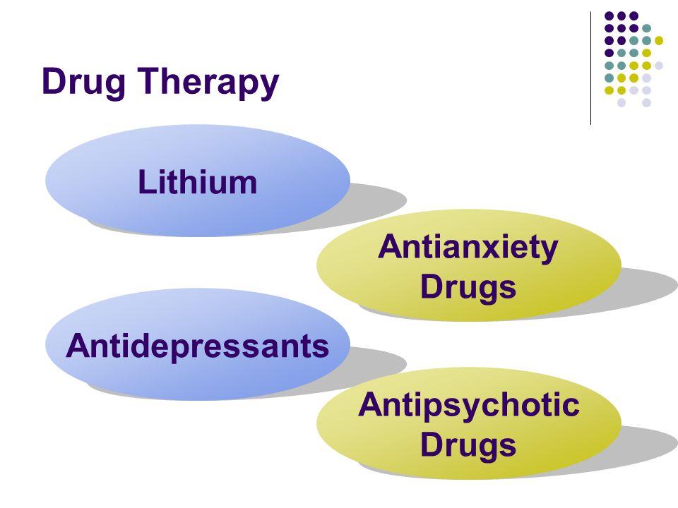 Drug Therapy Lithium Antianxiety Drugs Antidepressants Antipsychotic Drugs
