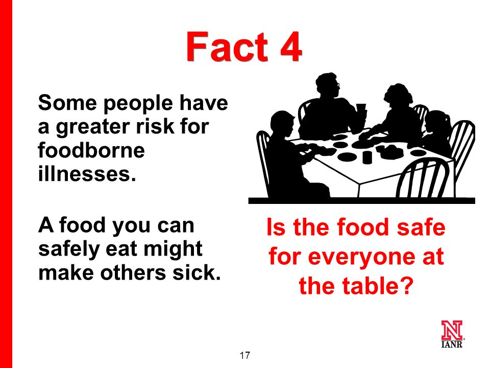 16 Myth 4 If I've never been sick from the food I prepare, I don't need to worry about feeding it to others.