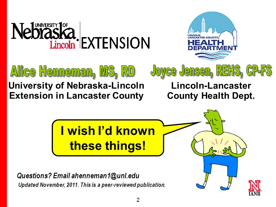 2 University of Nebraska-Lincoln Extension in Lancaster County Lincoln-Lancaster County Health Dept.