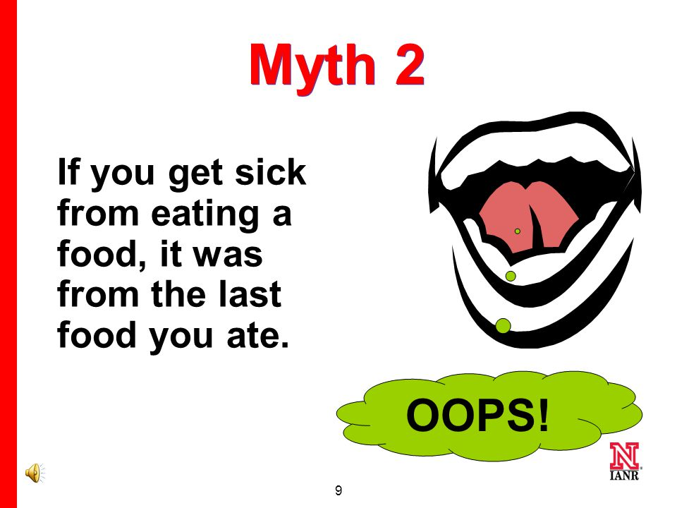 19 Myth 5 People never used to get sick from their food.