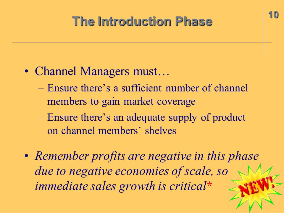 Channel Managers must… –Ensure there's a sufficient number of channel members to gain market coverage –Ensure there's an adequate supply of product on