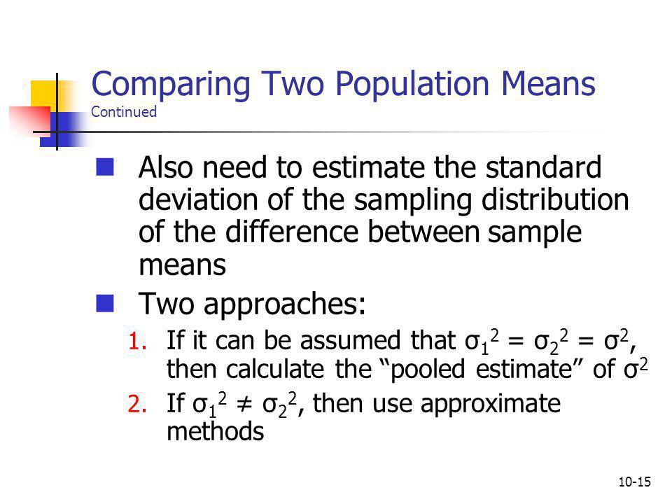 10-16 Pooled Estimate of σ 2