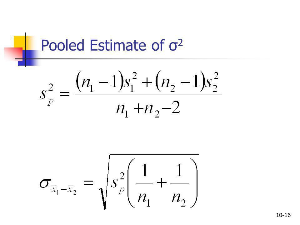 10-17 t-Based Confidence Interval for the Difference in Means (Variances Unknown)