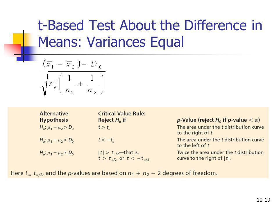 10-20 Example 10.4: The Catalyst Comparison Case