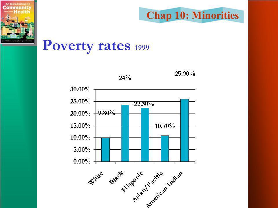 Chap 10: Minorities Poverty rates 1999