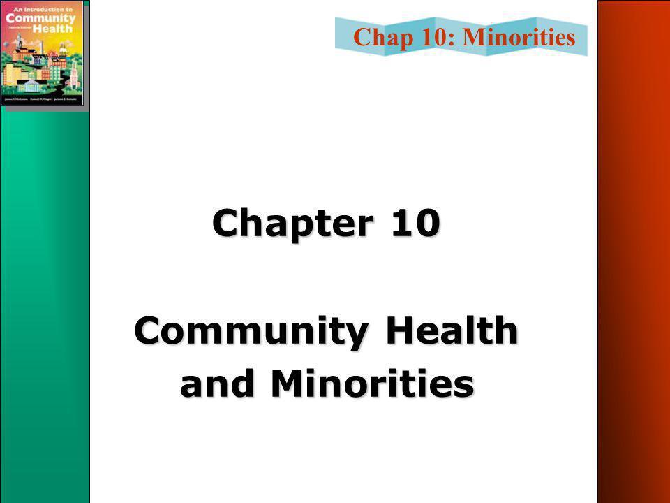 Chap 10: Minorities Chapter 10 Community Health and Minorities