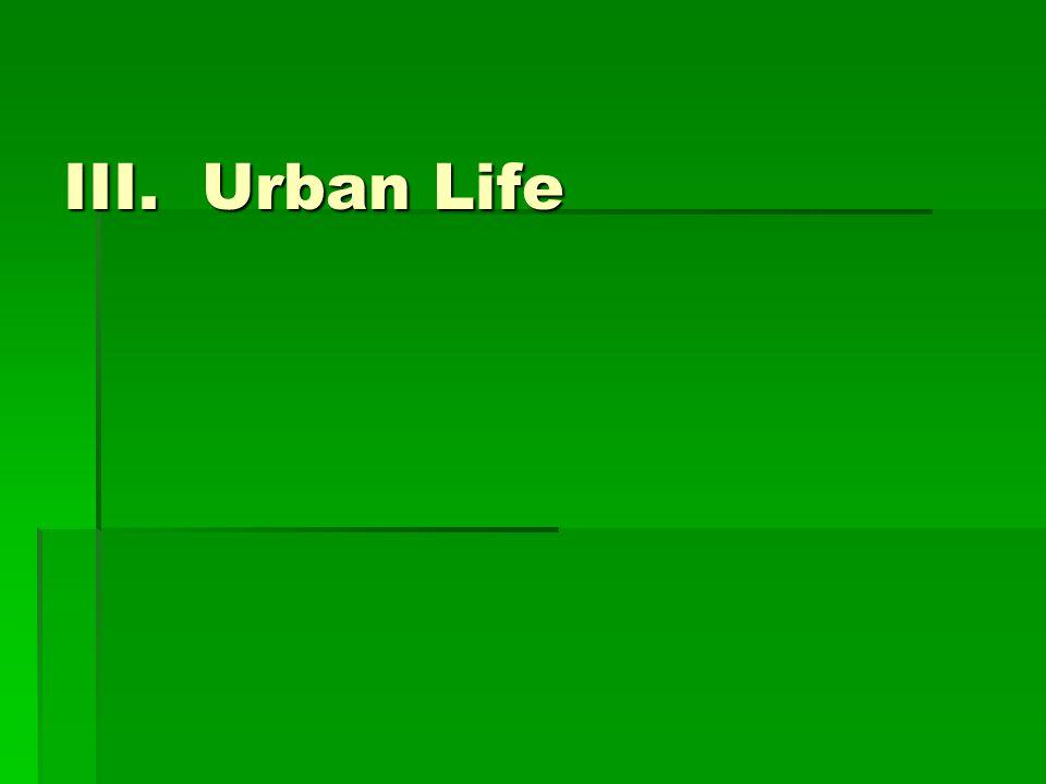 III. Urban Life