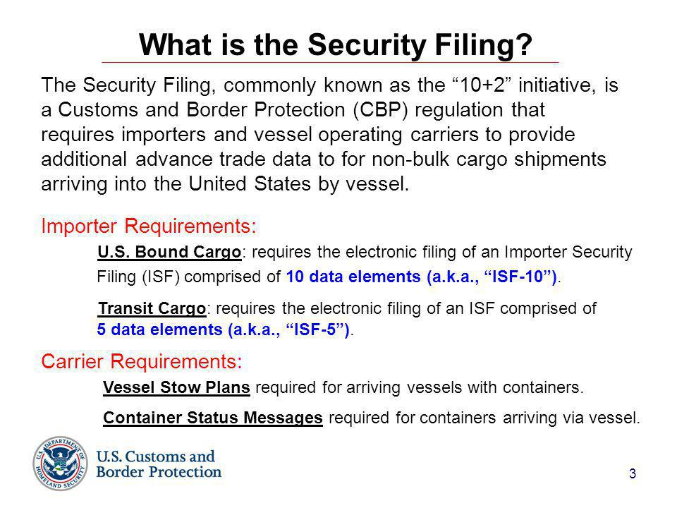 3 What is the Security Filing.