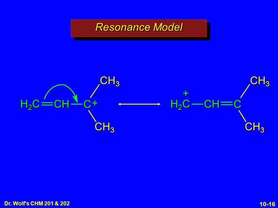 10-16 Dr. Wolf s CHM 201 & 202 Resonance Model CH 3 H2CH2CH2CH2C CH + C H2CH2CH2CH2C CH + C