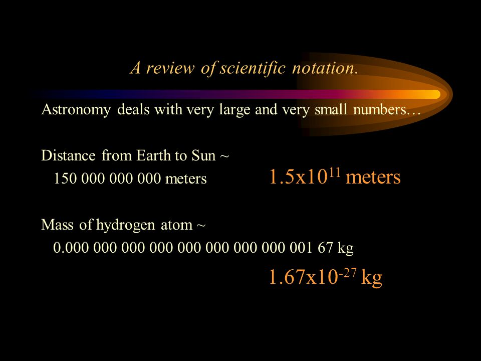 A review of scientific notation.
