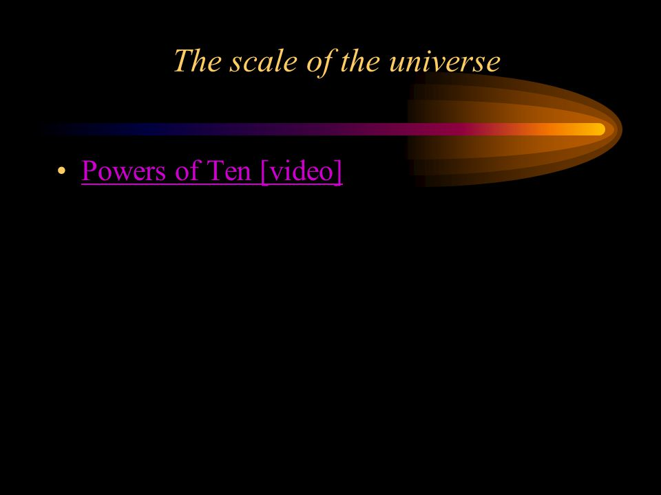 The scale of the universe Powers of Ten [video]