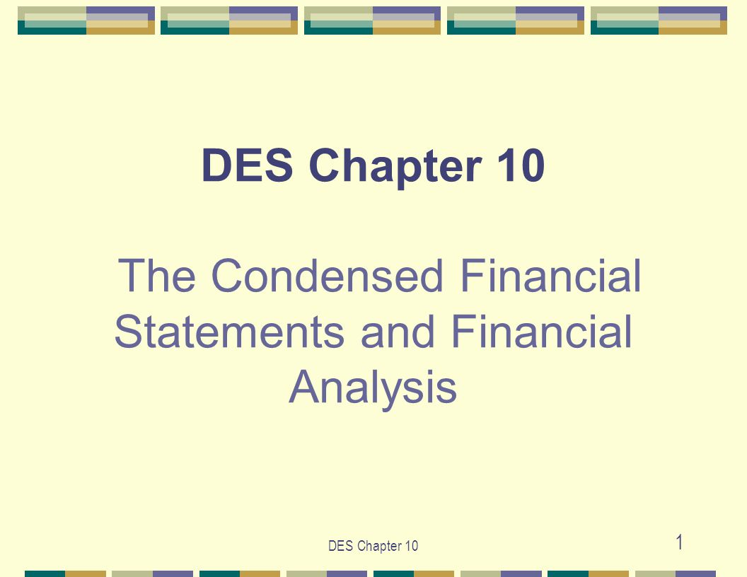 DES Chapter 10 32 Source: http://finance.yahoo.com/http://finance.yahoo.com/ (continued)