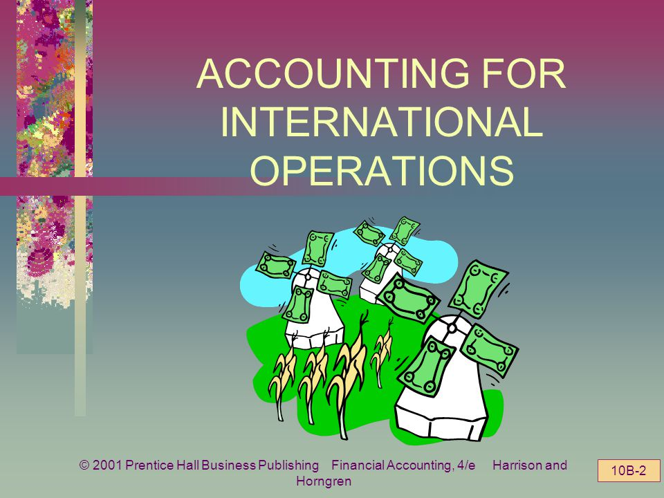 © 2001 Prentice Hall Business Publishing Financial Accounting, 4/e Harrison and Horngren 10B-1 CHAPTER 10 Part B Accounting for Long-Term Investments and International Operations