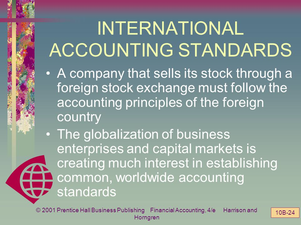© 2001 Prentice Hall Business Publishing Financial Accounting, 4/e Harrison and Horngren 10B-23 United States Germany Japan United Kingdom Specific un