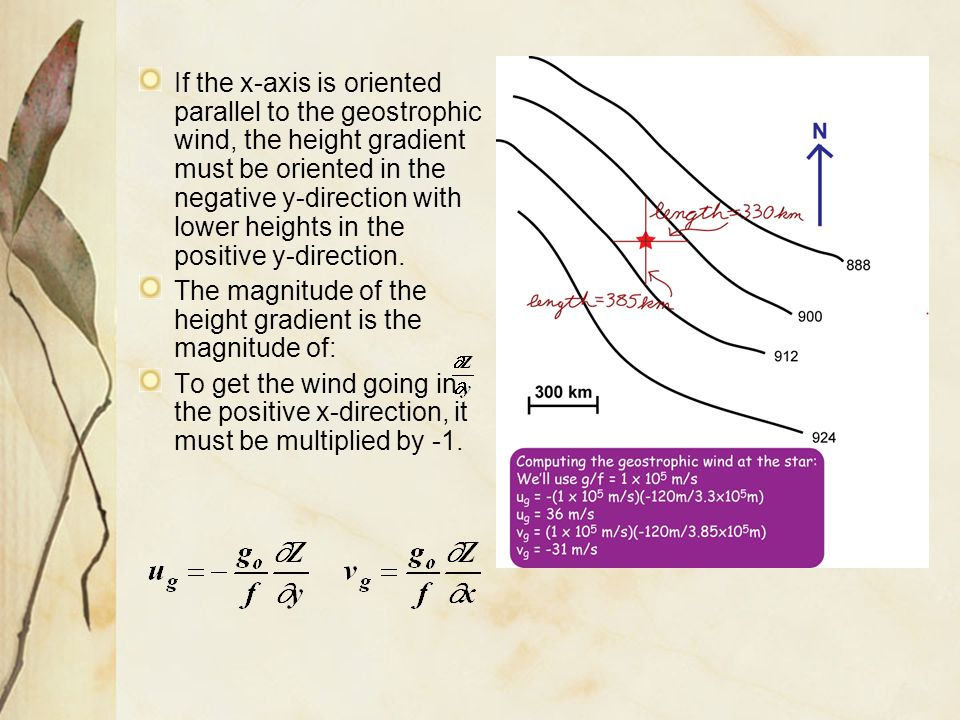 But, is just the northward velocity component, V, so: The magnitude of the Coriolis acceleration, or Coriolis Force per unit mass, is given by which acts to the right of the direction of motion of the object.