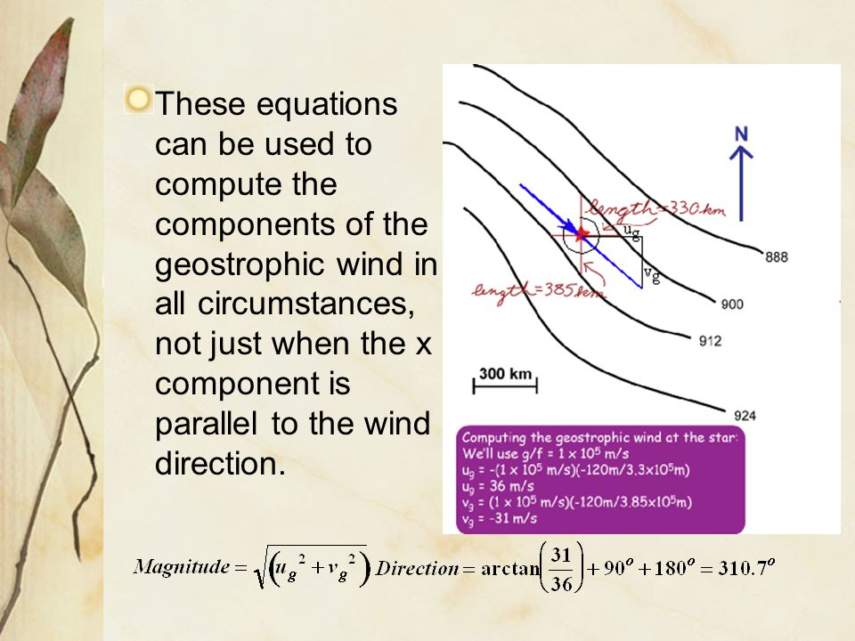 The u-component of the geostrophic wind is dependent on the height gradient with respect to y.