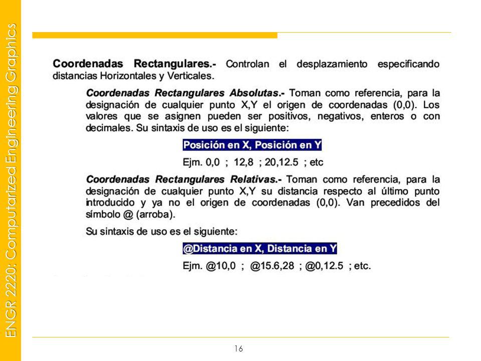 MSP21 Universidad Interamericana - Bayamón ENGR 2220: Computarized Engineering Graphics 16