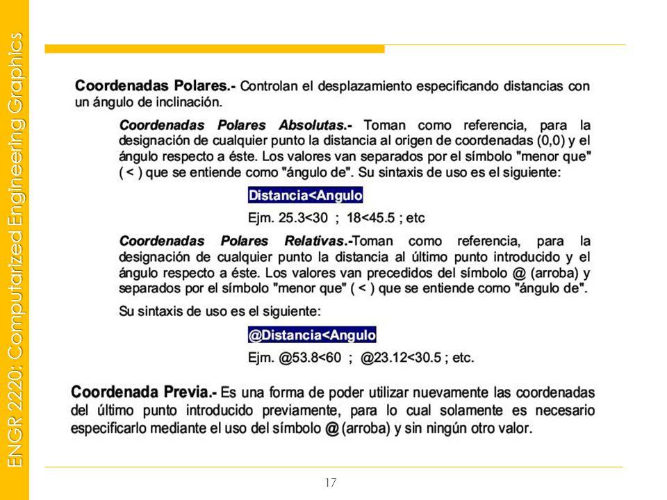 MSP21 Universidad Interamericana - Bayamón ENGR 2220: Computarized Engineering Graphics 17