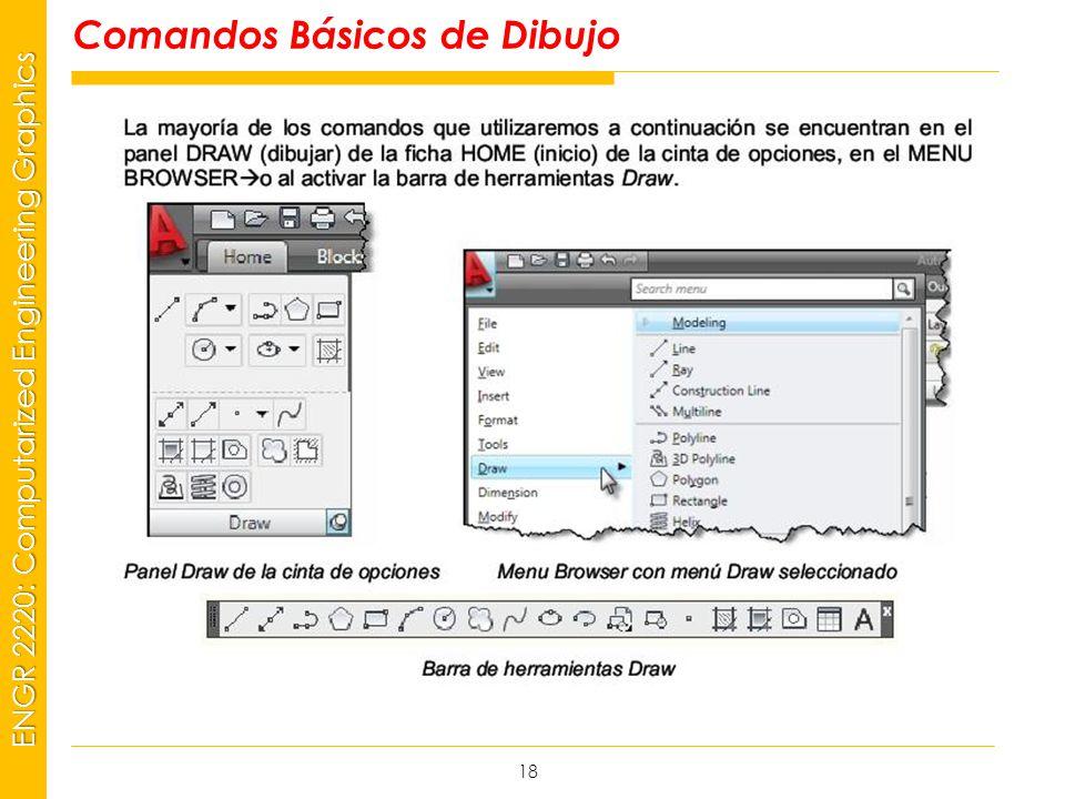 MSP21 Universidad Interamericana - Bayamón ENGR 2220: Computarized Engineering Graphics Comandos Básicos de Dibujo 18