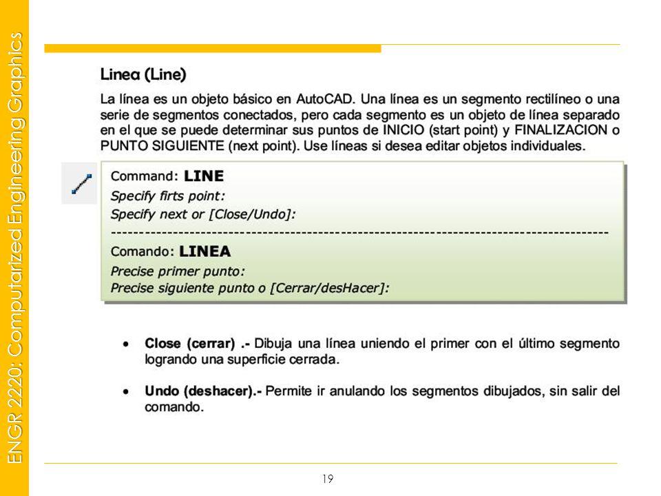 MSP21 Universidad Interamericana - Bayamón ENGR 2220: Computarized Engineering Graphics 19