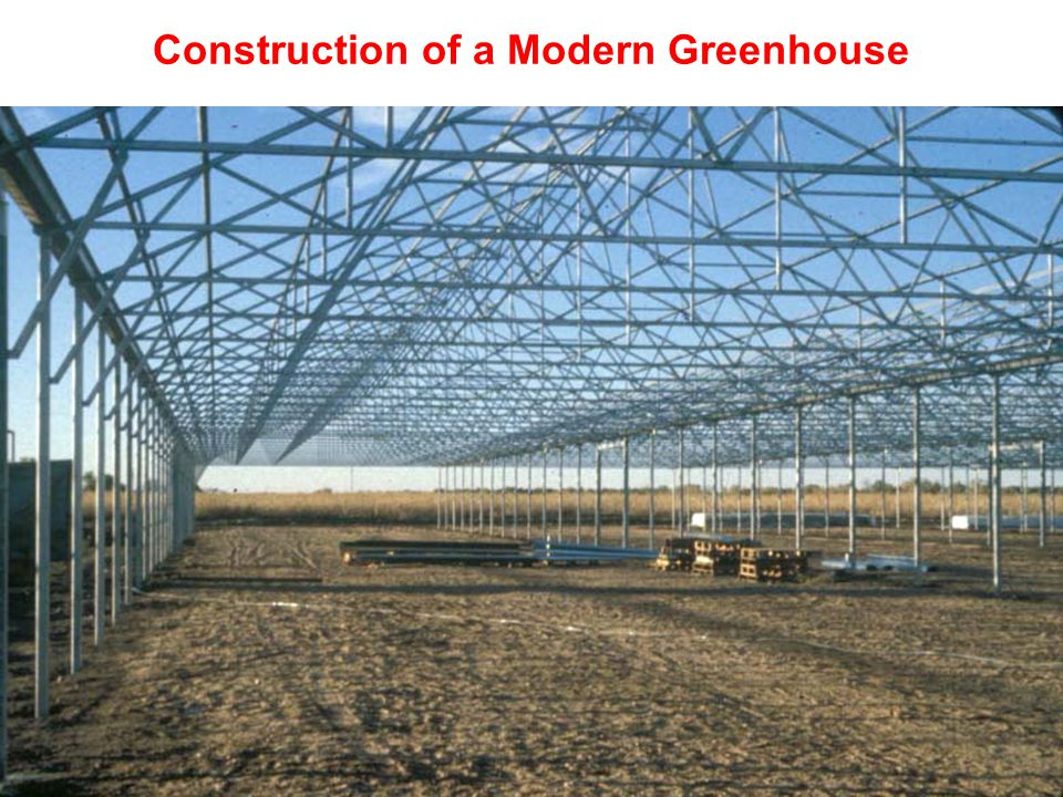 Construction of a Modern Greenhouse